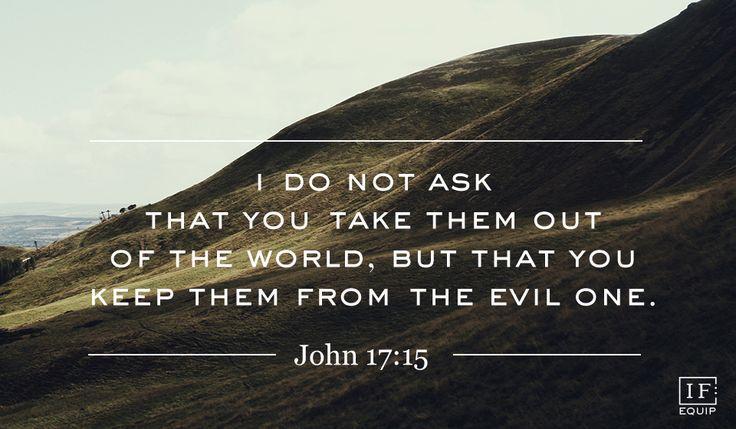 Hasil gambar untuk John 17:15